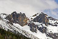 Wallaby Peak and Kangaroo Ridge in the North Cascades of Washington State, USA.  Photographed from Washingon Pass along Highway 20.
