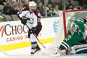 DALLAS, TX - NOVEMBER 1:  Maxime Talbot #25 of the Colorado Avalanche controls the puck against the Dallas Stars on November 1, 2013 at the American Airlines Center in Dallas, Texas.  (Photo by Cooper Neill/Getty Images) *** Local Caption *** Maxime Talbot