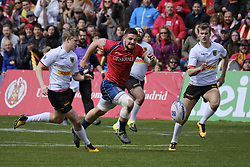 March 11, 2018 - Madrid, Madrid, Spain - Spanish National rugby team action against Germany during their Men's 2108 Rugby Europe International Championships match Spain vs. Germany at Complutense University's Central pitch in Madrid, Spain, 11 March 2018. (Credit Image: © Oscar Gonzalez/NurPhoto via ZUMA Press)