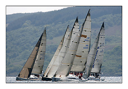 Bell Lawrie Scottish Series 2008. Fine North Easterly winds brought perfect racing conditions in this years event...Class 1 Fleet start including IRL 4208 WOW  and FRA 29999 Lady Courier