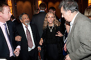 GEORDIE GREIG; SIR V.S.NAIPAUL; FRANCA SOZZANI; STEPHEN FREARS, Ella Krasner and Pablo Ganguli host a Liberatum dinner in honour of Sir V.S.Naipaul. The Landau at the Langham. London. 23 November 2010. -DO NOT ARCHIVE-© Copyright Photograph by Dafydd Jones. 248 Clapham Rd. London SW9 0PZ. Tel 0207 820 0771. www.dafjones.com.