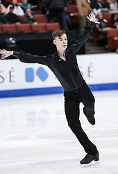 February 7, 2019 - Los Angeles, California, U.S - Nikita Manko of Kazakhstan competes in the Men Short Program during the ISU Four Continents Figure Skating Championship at the Honda Center in Anaheim, California on February 7, 2019. (Credit Image: © Ringo Chiu/ZUMA Wire)