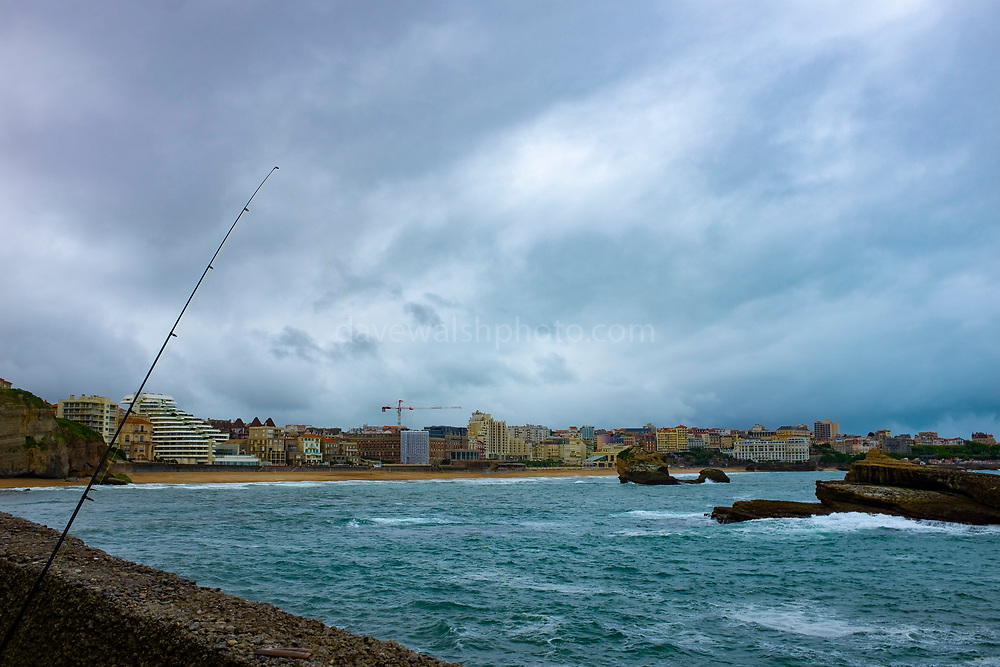 Fishing near, Biarritz, France. Maire de Cambo les Bains, Biarritz, France.