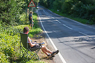 Spectators line the route during the Tour of Britain 2021 third stage between Ysgol Bro Dinefwr and National Botanic Garden of Wales in Carmarthenshire, , United Kingdom on 7 September 2021.