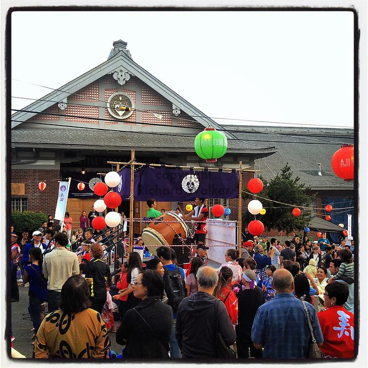 2014 July 19 - Bon Odori, bon dance, at hongwanji, Seattle, WA, USA. Taken/edited with Instagram App for iPhone. By Richard Walker