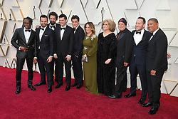 February 24, 2019 - Los Angeles, California, U.S - BOB PERSICHETTI, PETER RAMSEY, RODNEY ROTHMAN, PHIL LORD AND CHRISTOPHER MILLER AND COMPANY during red carpet arrivals for the 91st Academy Awards, presented by the Academy of Motion Picture Arts and Sciences (AMPAS), at the Dolby Theatre in Hollywood. (Credit Image: © Kevin Sullivan via ZUMA Wire)