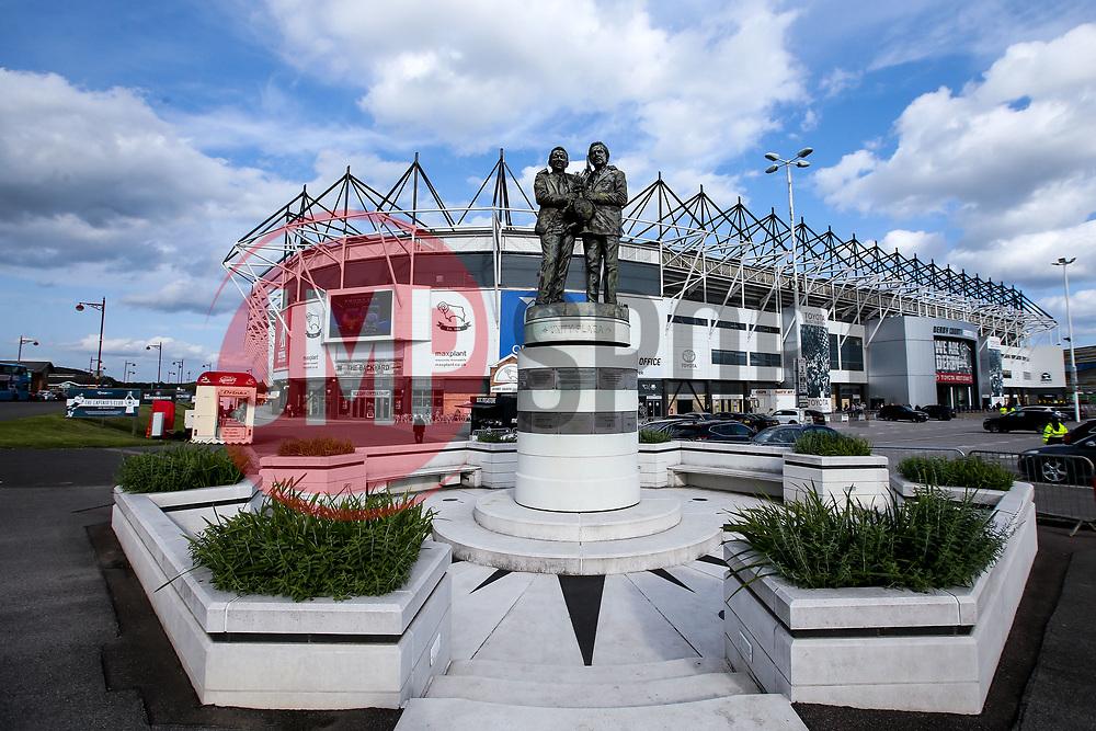 A general view of Pride Park, home to Derby County - Mandatory by-line: Robbie Stephenson/JMP - 20/08/2019 - FOOTBALL - Pride Park Stadium - Derby, England - Derby County v Bristol City - Sky Bet Championship