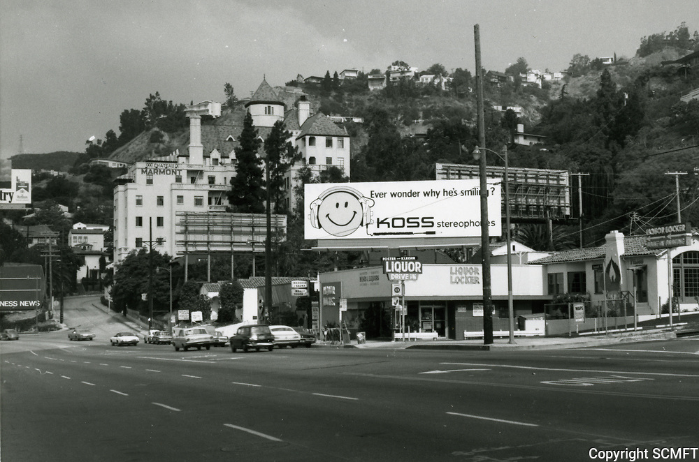 1973 Chateau Marmont west of Sunset Blvd. near Crescent Heights Blvd.