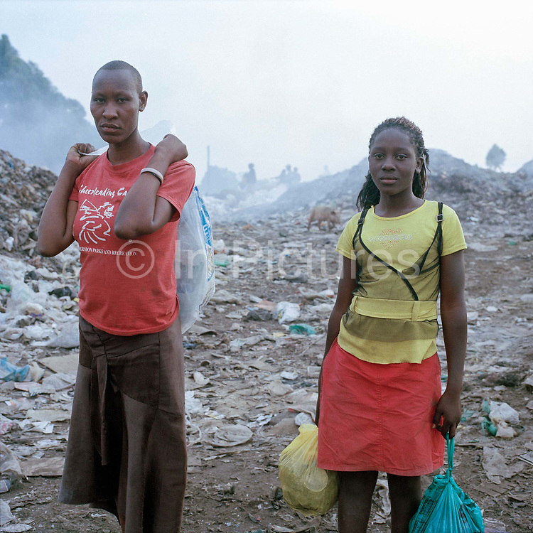 Alice (left) started coming to the dump last year when she fell pregnant and had to drop out of school. She needs the money to support her. She is holding some plastic  flowers which she might be able to sell it being Valentinies day, a big event in Kenya. She goes to the dump with Fatila who laso lives with her and her dad ( her baby is looked after by relatives) . She helps to protect Fatila from some of the boys at the dump – they ask her to sell Fatila to them but she doesn't allow them near her. The two girls take care of each other, Fatila says that Alice gives her advice about sex and boys, warning her not to end up in the same situation.