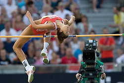 Blanka Vlasic of Croatia competes in the women's High Jump Final during day six of the 12th IAAF World Athletics Championships at the Olympic Stadium on August 20, 2009 in Berlin, Germany. (Photo by Vid Ponikvar / Sportida)