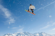 Verbier, Switzerland. March 19th 2010..Verbier Swatch Snowpark - La Chaux..