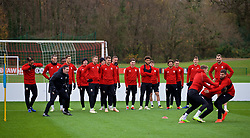 CARDIFF, WALES - Monday, November 19, 2018: Wales players during a training session at the Vale Resort ahead of the International Friendly match between Albania and Wales. Head of performance Tony Strudwick. (Pic by David Rawcliffe/Propaganda)