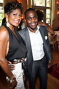24 June 2010- Miami Beach, Florida- l to r: Jocelyn Taylor and Haniff at the The 2010 American Black Film Festival Founder's Brunch held at Emeril's on June 24, 2010. Photo Credit: Terrence Jennings/Sipa