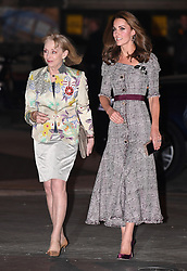 The Duchess of Cambridge (right) attends the V&A Photography Centre Opening at the Victoria and Albert Museum in London on October 10, 2018.