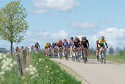 Lead group as the race enters it's second phase at Omloop van Borsele 2016. A 139 km road race starting and finishing in 's-Heerenhoek, Netherlands on 23rd April 2016.