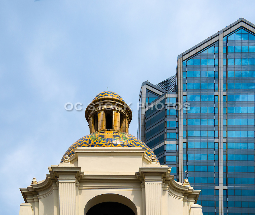 The Santa Fe Depot Next to One America Plaza Buidling of San Diego California