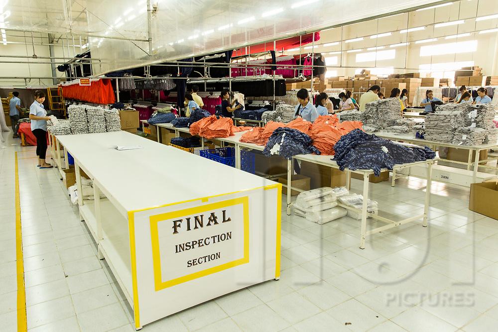 Quality control procces in Hansae textile factory, Cu Chi, Ho Chi Minh city, Vietnam, Southeast Asia
