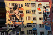 QINGDAO, CHINA - JANUARY 13: (CHINA OUT) <br /> <br /> Buildings Painted with Sexy Women in China<br /> <br /> Wall paintings of sexy beauties are seen on residential buildings on January 13, 2015 in Qingdao, Shandong province of China. Giant wall paintings which were painted sexy beauties were shown on the residential buildings in east China's Shandong province, with a largest painting being at the height of seven storeys.<br /> ©Exclusivepix Media