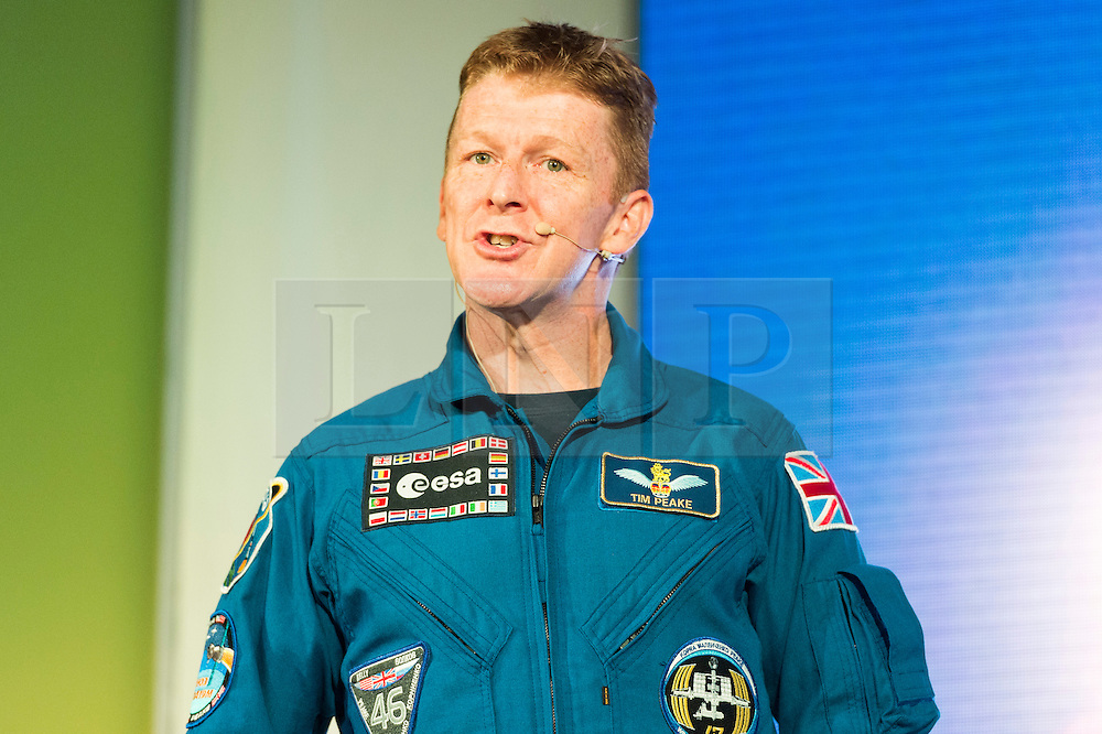 © Licensed to London News Pictures. 22/09/2016. British ESA astronaut, Tim Peake takes part in talk at New Scientist Live event.  London, UK. Photo credit: Ray Tang/LNP