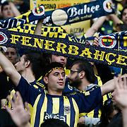 Fenerbahce's supporters during their Turkish superleague soccer derby match Fenerbahce between Besiktas at Sukru Saracaoglu stadium in Istanbul Turkey on Sunday 18 April 2010. Photo by Aykut AKICI/TURKPIX
