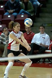 18 November 2005: Jesse Janik digs out a serve. Missouri State Bears clawed their way past the Illinois State Redbirds in 4 games to take the match played at Redbird Arena in Normal Illinois.