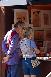 Jeremy Irons and his wife SinÈad Cusack spent time in Madrid as they went sightseeing and buying gifts. Friday September 21, 2012. Photo By © Pepe MÈndez/Sevenpixnews/i-Images