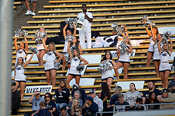 Nevada cheerleaders shout their support before an NCAA college football game against California, Saturday, Sept. 4, 2021, in Berkeley, Calif. (AP Photo/D. Ross Cameron)