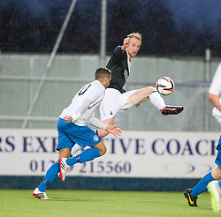 Falkirk's Mark Beck.<br /> Falkirk 1 v 1 Morton, Scottish Championship game today at The Falkirk Stadium.<br /> © Michael Schofield.