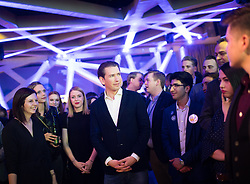 "12.04.2019, Palais Wertheim, Wien, AUT, ÖVP, ""Europa-Get-Together"" der Jungen Österreichischen Volkspartei. im Bild Bundeskanzler Sebastian Kurz (ÖVP) // Austrian Federal Chancellor Sebastian Kurz during get together of the Youth of the European People's Party regarding to Eurpean Parliment Elections of the Austrian People' s Party in Vienna, Austria on 2019/04/12. EXPA Pictures © 2019, PhotoCredit: EXPA/ Michael Gruber"