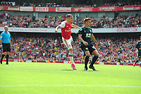 Football - 2019 / 2020 Premier League - Arsenal vs. Burnley<br /> <br /> Lucas Torreira of Arsenal and Ashley Westwood of Burnley, at The Emirates.<br /> <br /> COLORSPORT/ANDREW COWIE