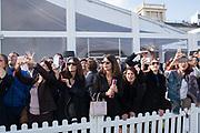 Watching the main race, Qatar Prix de l'Arc de Triomphe, Longchamp, Paris, 6 October 2019