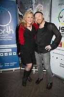 Nicole Faraday, Philip Baldwin at  the Ask the Cheat film screening. Crowne Plaza London Docklands.