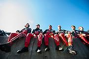 September 30-October 1, 2011: Petit Le Mans at Road Atlanta. Audi R18, Audi Sport Team Joest mechanics