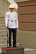 Thailand, Bangkok, Soldier on duty, Bangkok