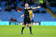 Referee Andre Marriner in action. The Emirates FA cup 4th round match, Burnley v Bristol City at Turf Moor in Burnley, Lancs on Saturday 28th January 2017.<br /> pic by Chris Stading, Andrew Orchard Sports Photography.