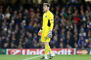 Goalkeeper Iker Casillas of FC Porto looks on. UEFA Champions league group G match, Chelsea v Porto at Stamford Bridge in London on Wednesday 9th December 2015.<br /> pic by John Patrick Fletcher, Andrew Orchard sports photography.