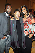 l to r: Jaime Hector, Terrie Williams and lyassah Shabazz(daughter of Dr. Betty Shabazz and Malcom X) at The 84th Birthday Celebration for Malcolm X and the Memorializing and Marking, for the First Time, the Location in Audubon Ballroom Where He Was Martyred in 1965.