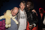 GAVIN TURK; JEFFERSON HACK, Sarah Lucas- Scream Daddio party hosted by Sadie Coles HQ and Gladstone Gallery at Palazzo Zeno. Venice. 6 May 2015.