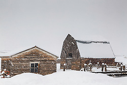 Old Star Valley farm during one of the valley's seasonally ubiquitous snow storms.