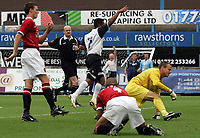 Photo: Paul Thomas.<br /> Preston North End v Manchester United. Pre Season Friendly. 29/07/2006.<br /> <br /> Goal scorer Simon Whaley (C) of Preston celebrates thier second goal.