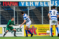 Gino van Luijn of VV Maarssen in action. First friendly match after the Corona outbreak. VV Maarssen lost the away match against big league Spakenburg 5-1 on 4 July 2020 in Spakenburg.