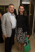 ALI  GURELI; VICTORIA SIDDALL Dinner to celebrate the 10th Anniversary of Contemporary Istanbul Hosted at the Residence of Freda & Izak Uziyel, London. 23 June 2015