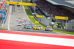 03.08.2014, Red Bull Ring, Spielberg, AUT, DTM Red Bull Ring, Renntag, im Bild Timo Glock, (GER, 3. Platz, Rennen, Deutsche Post BMW M4 DTM), Augusto Farfus, (BRA, 2. Platz, Rennen, Castrol EDGE BMW M4 DTM), Robert Wickens, (CAN,1. Platz Qualifying, FREE MAN'S WORLD Mercedes AMG C-Coupe) // during the DTM Championships 2014 at the Red Bull Ring in Spielberg, Austria, 2014/08/03, EXPA Pictures © 2014, PhotoCredit: EXPA/ M.Kuhnke