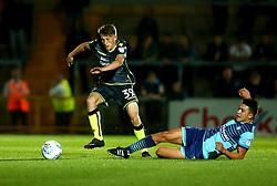 Cameron Hargreaves of Bristol Rovers beats Luke O'Nien of Wycombe Wanderers - Mandatory by-line: Robbie Stephenson/JMP - 29/08/2017 - FOOTBALL - Adam's Park - High Wycombe, England - Wycombe Wanderers v Bristol Rovers - Checkatrade Trophy