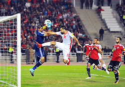 November 11, 2017 - Rades, Tunisia - Yassine Taha Khenissi(11) in action during the Qualifying match for the 2018 FIFA Russia World Cup at Rades Stadium between Tunisia and Libya..Tunisia qualifies for the Russian world after a draw 0/0. (Credit Image: © Chokri Mahjoub via ZUMA Wire)