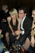 Ticky Hedley-Dent and Daniel Pirrie, Tatler's Little Black Book party. Tramp. Jermyn St.  London. 7 November 2007. -DO NOT ARCHIVE-© Copyright Photograph by Dafydd Jones. 248 Clapham Rd. London SW9 0PZ. Tel 0207 820 0771. www.dafjones.com.