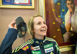 Katja Pozun during official presentation of the outfits of the Slovenian Ski Teams before new season 2015/16, on October 6, 2015 in Kulinarika Jezersek, Sora, Slovenia. Photo by Vid Ponikvar / Sportida