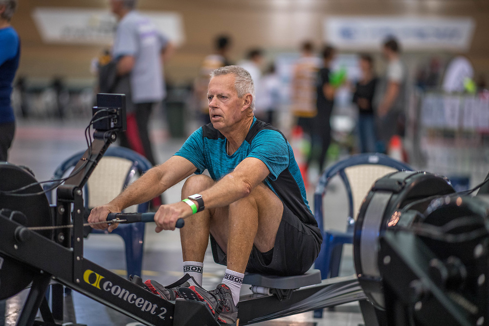 Lyndsay Knight MALE LIGHTWEIGHT Masters H 2K Race #2  08:45am<br /> <br /> www.rowingcelebration.com Competing on Concept 2 ergometers at the 2018 NZ Indoor Rowing Championships. Avanti Drome, Cambridge,  Saturday 24 November 2018 © Copyright photo Steve McArthur / @RowingCelebration