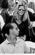 Candace Bushnell & Ron Galotti. Mercedes-Benz Cup at Bridgehampton Polo Club. 5 August 1995<br />© Copyright Photograph by Dafydd Jones<br />66 Stockwell Park Rd. London SW9 0DA<br />Tel 0171 733 0108