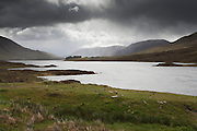 Looking east along Loch Cluanie from the head, where the River Cluanie enters.L